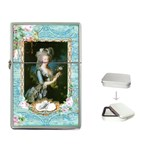 Marie Antoinette Pink Roses And Blue 6 By 8 Copy Flip Top Lighter