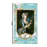 Marie Antoinette Pink Roses And Blue 6 By 8 Copy Business Card Holder