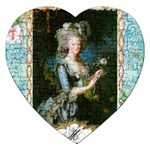 Marie Antoinette Pink Roses And Blue 6 By 8 Copy Jigsaw Puzzle (Heart)