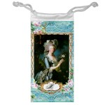 Marie Antoinette Pink Roses And Blue 6 By 8 Copy Jewelry Bag
