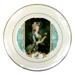 Marie Antoinette Pink Roses And Blue 6 By 8 Copy Porcelain Plate