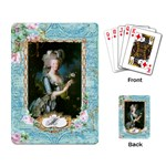 Marie Antoinette Pink Roses And Blue 6 By 8 Copy Playing Cards Single Design