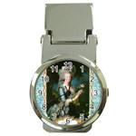 Marie Antoinette Pink Roses And Blue 6 By 8 Copy Money Clip Watch