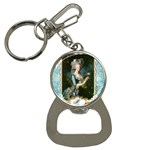 Marie Antoinette Pink Roses And Blue 6 By 8 Copy Bottle Opener Key Chain