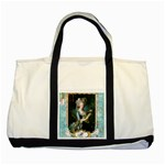 Marie Antoinette Pink Roses And Blue 6 By 8 Copy Two Tone Tote Bag