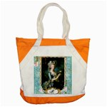Marie Antoinette Pink Roses And Blue 6 By 8 Copy Accent Tote Bag