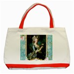 Marie Antoinette Pink Roses And Blue 6 By 8 Copy Classic Tote Bag (Red)