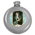 Marie Antoinette Pink Roses And Blue 6 By 8 Copy Hip Flask (5 oz)