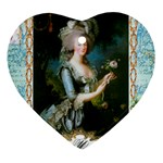Marie Antoinette Pink Roses And Blue 6 By 8 Copy Heart Ornament (Two Sides)