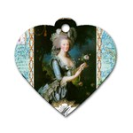 Marie Antoinette Pink Roses And Blue 6 By 8 Copy Dog Tag Heart (One Side)