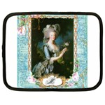 Marie Antoinette Pink Roses And Blue 6 By 8 Copy Netbook Case (Large)