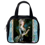 Marie Antoinette Pink Roses And Blue 6 By 8 Copy Classic Handbag (One Side)