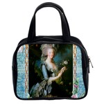 Marie Antoinette Pink Roses And Blue 6 By 8 Copy Classic Handbag (Two Sides)