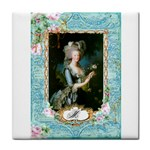 Marie Antoinette Pink Roses And Blue 6 By 8 Copy Face Towel