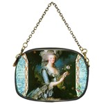 Marie Antoinette Pink Roses And Blue 6 By 8 Copy Chain Purse (One Side)
