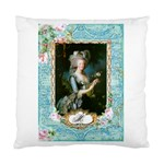 Marie Antoinette Pink Roses And Blue 6 By 8 Copy Cushion Case (Two Sides)