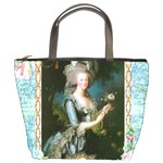 Marie Antoinette Pink Roses And Blue 6 By 8 Copy Bucket Bag