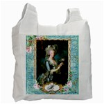 Marie Antoinette Pink Roses And Blue 6 By 8 Copy Recycle Bag (One Side)