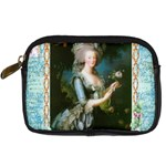 Marie Antoinette Pink Roses And Blue 6 By 8 Copy Digital Camera Leather Case