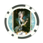 Marie Antoinette Pink Roses And Blue 6 By 8 Copy Poker Chip Card Guard (10 pack)