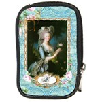 Marie Antoinette Pink Roses And Blue 6 By 8 Copy Compact Camera Leather Case