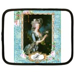 Marie Antoinette Pink Roses And Blue 6 By 8 Copy Netbook Case (XL)