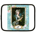 Marie Antoinette Pink Roses And Blue 6 By 8 Copy Netbook Case (XXL)