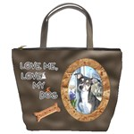 Love Me, Love My Dog Bucket Bag