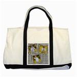 Black and White layered Tote - Two Tone Tote Bag