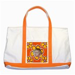 My Little Orange flower - Two Tone Tote Bag