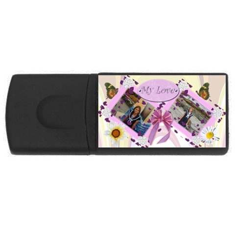 My Love Usb Flash Drive By Kim Blair   Usb Flash Drive Rectangular (2 Gb)   O9w6ybjz4pbt   Www Artscow Com Front