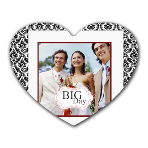 Wedding By Joely   Heart Mousepad   56anuhaojcr9   Www Artscow Com Front