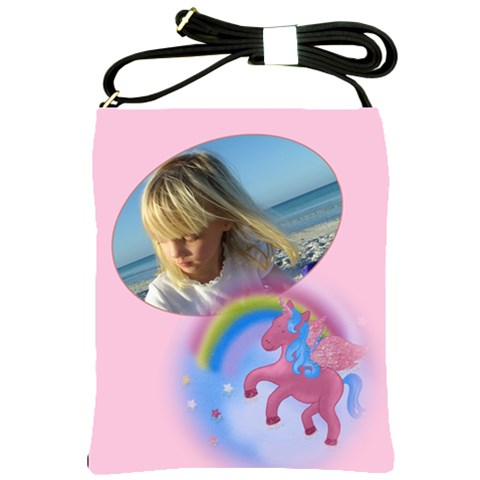 Unicorn Sling Bag By Deborah   Shoulder Sling Bag   H17xps5vc22a   Www Artscow Com Front