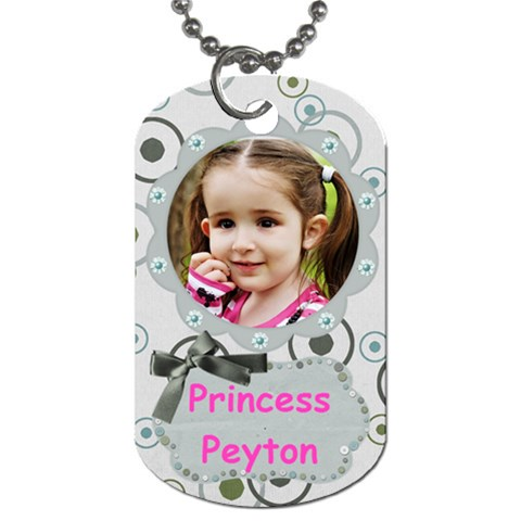 Peyton By Carrie Hall   Dog Tag (one Side)   Awl2o56dqoui   Www Artscow Com Front