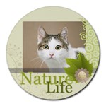 nature life - Round Mousepad