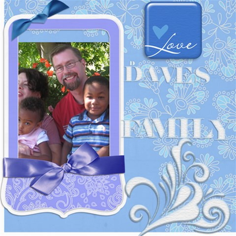Daves Family By Marilyn Holtien   Scrapbook Page 8  X 8    Fpjo5h8s1633   Www Artscow Com 8 x8 Scrapbook Page - 1