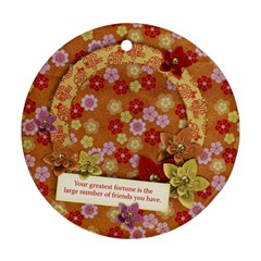 Friends/beauty/oriental Round Ornament (2 Sides) By Mikki   Round Ornament (two Sides)   Dvj3s6j8korp   Www Artscow Com Front