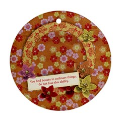 Friends/beauty/oriental Round Ornament (2 Sides) By Mikki   Round Ornament (two Sides)   Dvj3s6j8korp   Www Artscow Com Back