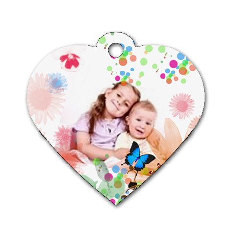 Happy Kids By Wood Johnson   Dog Tag Heart (one Side)   Pf0q8yu2vbz6   Www Artscow Com Front