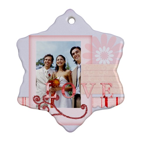 Wedding By Joely   Ornament (snowflake)   Bydemxvpulgw   Www Artscow Com Front