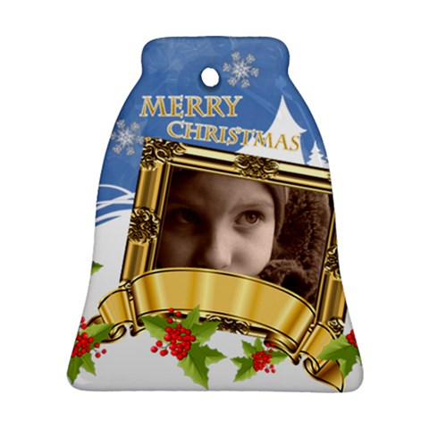 Christmas By Joely   Ornament (bell)   Xyhuih3do6br   Www Artscow Com Front
