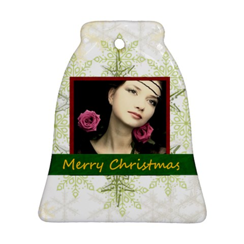 Christmas By Joely   Ornament (bell)   Npovkmqm9t7z   Www Artscow Com Front