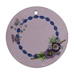 Purple/Heal/Mother-round ornament (2 sides) - Round Ornament (Two Sides)