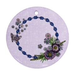 Purple/heal/mother Round Ornament (2 Sides) By Mikki   Round Ornament (two Sides)   Qw78oxqvs8c6   Www Artscow Com Back