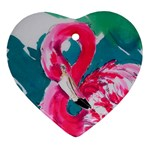 Flamingo Print Ornament (Heart)