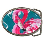 Flamingo Print Belt Buckle