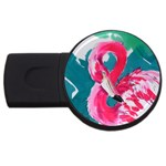 Flamingo Print USB Flash Drive Round (1 GB)