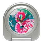 Flamingo Print Travel Alarm Clock