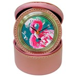 Flamingo Print Jewelry Case Clock