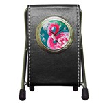 Flamingo Print Pen Holder Desk Clock